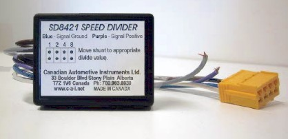 Speed Signal Divider designed for tachographs requiring a dual signal asynchronous pulse.