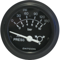 Datcon Air Pressure and Ammeter Gauges