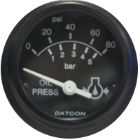 Datcon Oil Pressure Gauges and Pressure Senders
