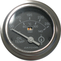 Datcon Oil Temperature Gauges with their matching Senders