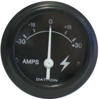 Datcon Air Pressure, Air Brake and Ammeter Gauges