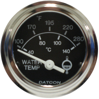 Datcon Water Temp and Press Gauges